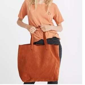 """NWT Madewell Transport tote """"corduroy"""" suede"""